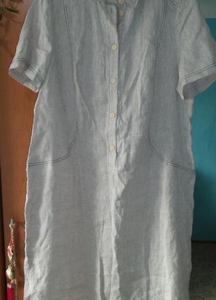 Продам новое льняное платье 55/60 размера