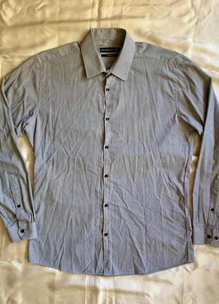 Серая рубашка в полоску cedarwood state slim fit размер m