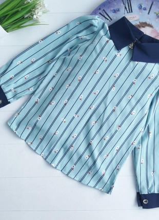 Блуза мята 122р, 128р
