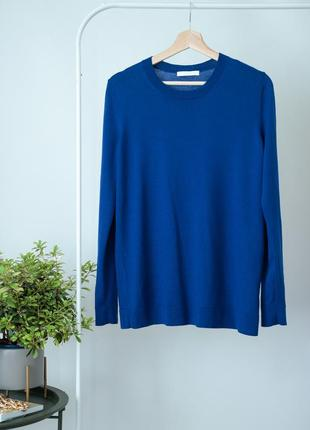 Шерстяной свитер в синем цвете hugo boss