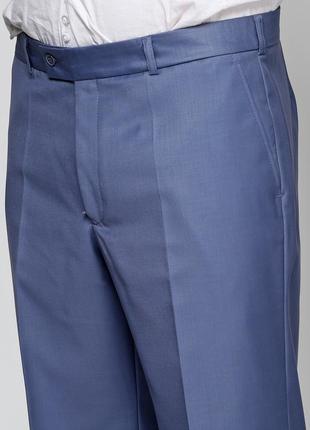 Классические летние легкие брюки голубого цвета