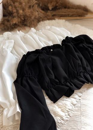 Блузка с опущенными плечами