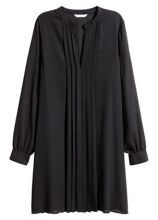 Туника #h&m тонкая, черная, слегка просвечивающаяся, с длинным рукавом