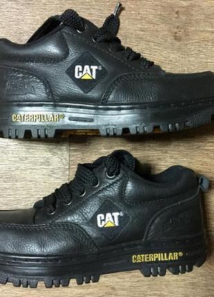 Кожаные низкие ботинки cat steel toe caterpillar (41р)оригинал