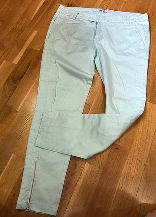 Мятные штаны stradivarius