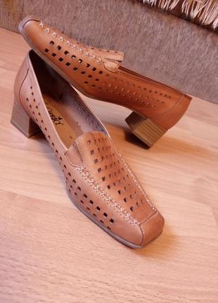 Германия,нереально красивые,кожаные туфли,туфельки,летние туфли,широкий,средний каблук