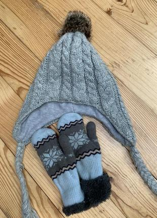 Набір шапка рукавиці