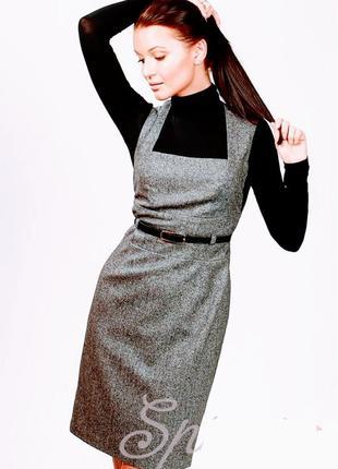 Сарафан платье для офиса учебы плиссированной юбкой montella uk 10-12 eur 40-42