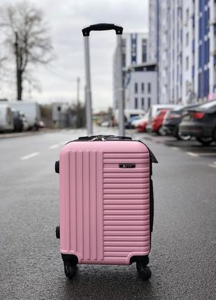Распродажа! пластиковый чемодан маленький для ручной клади / валіза пластикова маленька