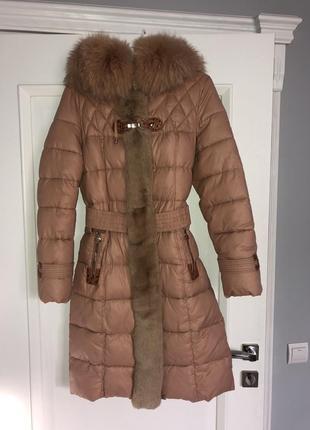 Синтепонова куртка з натуральним хутром