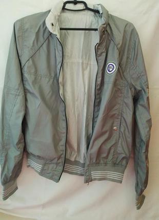 Лёгкая двусторонняя курточка - бомбер для подростка
