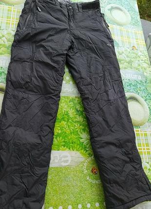Черные балоневые брюки теплые, очень классные