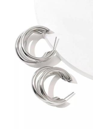 Круглые серьги-кольца