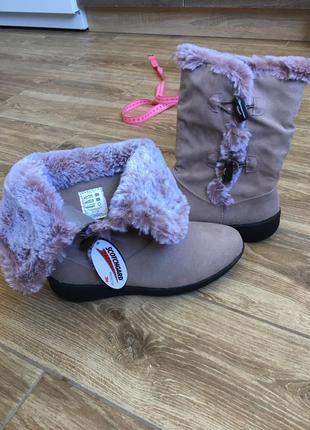 Новые демисезонные ботинки трансформеры с плюшевым лавандовым мехом, легкие и мягкие