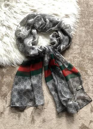 Женский легкий шелковый платок шаль шарф палантин gucci