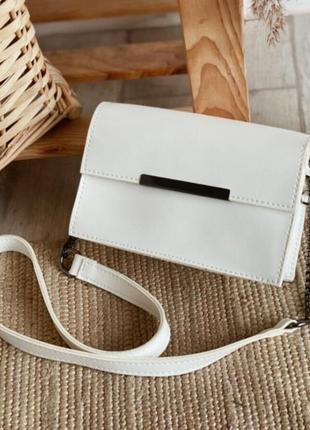 1526.     белая поясная сумочка клатч два в одном