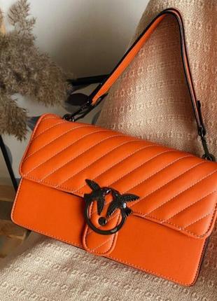 1527.    оранжевая сумка с длинной цепочкой