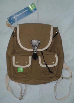 Эко рюкзак цвета хаки