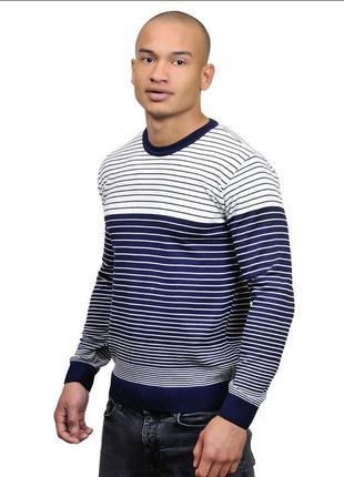 Тонкий свитер полосатый