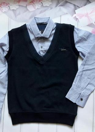 Реглан рубашка обманка турция