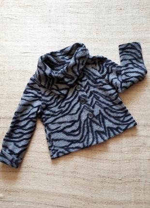 ♨️ пиджак жакет шерстяной короткий  из валяной шерсти серый батал р 16 42