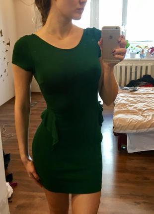 Волшебное изумрудное платье zara
