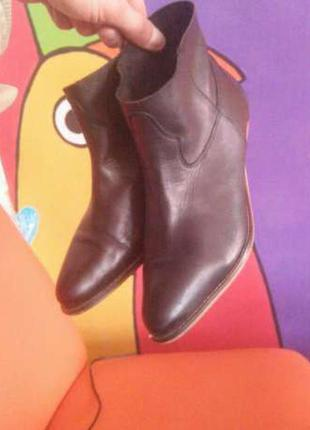Asos кожаные ботинки/челси стильные .(39)