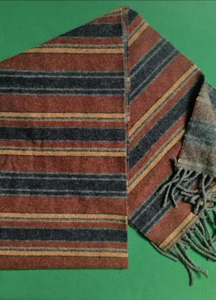 Длинный мужской шерстяной шарф