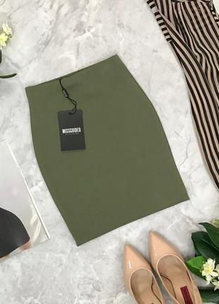 Аккуратная юбка в оливковом цвете  ki1848117 missguided