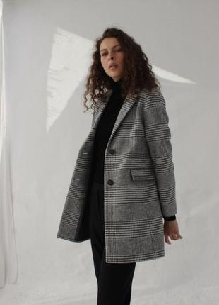 Женское стильное пальто season валери в клетку