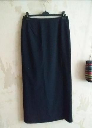 Юбка узкая классика черная винтаж