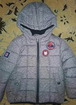 Зимняя куртка курточка marvel spider-man