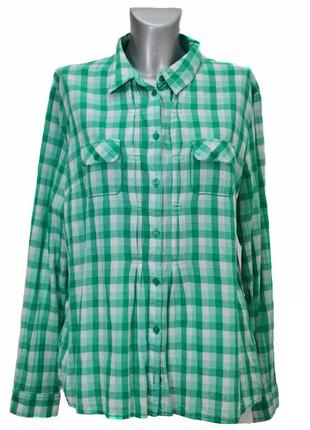 Женская  рубашка в клетку  street one. код 1335(4)