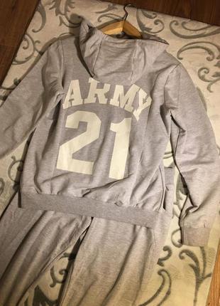 Серый спортивный костюм vdp,комплект,набор