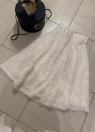 Шикарная воздушная юбка-миди, river island, размер с/м