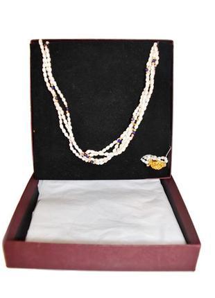 Ожерелье из натурального речного жемчуга guldfynd.код п39255