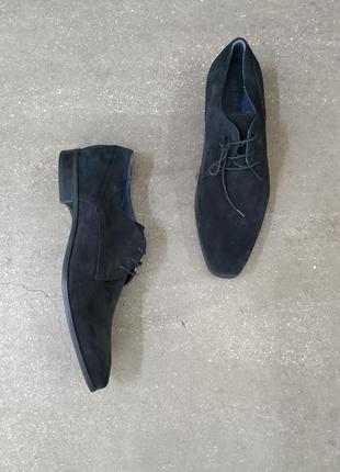 Andre кожаные замшевые туфли оксфорды 45 р
