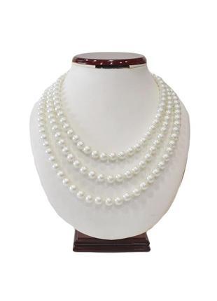 Жемчужное ожерелье без застежки