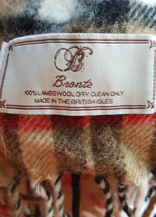 Теплый длинный шерстяной шарф bronte (британские острова)