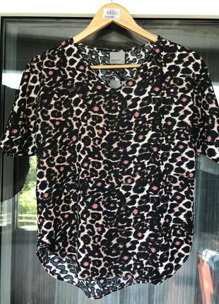 Футболка vero moda в леопардовый принт
