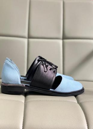 Крутые туфли закрытые замшевые кожаные туфлi кожані замшеві