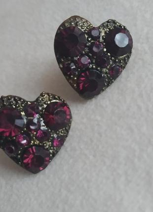 Сережки серьги сердце сердечко
