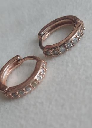 Серьги сережки кольцо хеликс