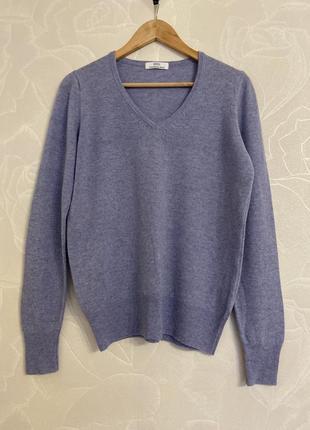 Шерстяной нежно голубой свитер marks&spencer