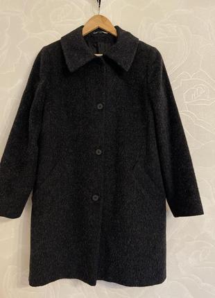 Мохнатое пальто альпака marks&spencer