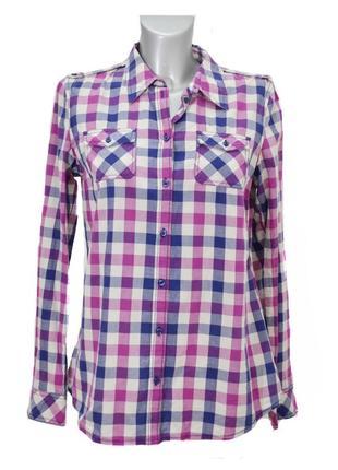 Женская рубашка  в клетку esprit. код 1018