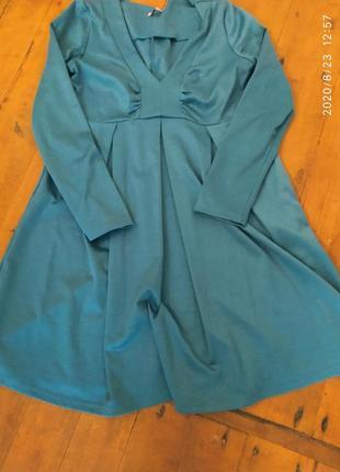 Платье расклешонное от груди, подходит и для беременных