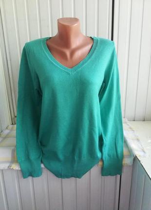Джемпер свитер красивого бирюзового цвета