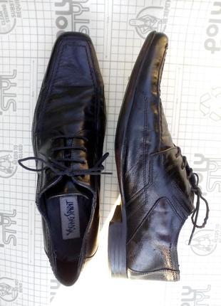 Туфли мужские черные кожа young spirit 42 размер