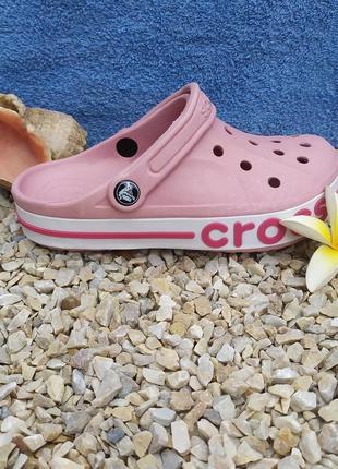 Крокс crocs bayaband clog petal pink / candy pink